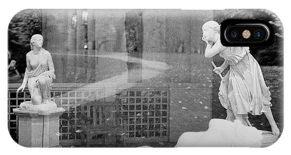 Nyc Whispering Statues IPhone Case