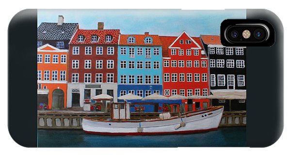 IPhone Case featuring the painting Nyhavn Copenhagen by Deborah Boyd