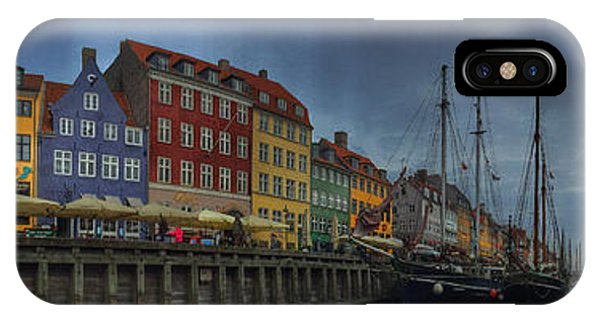 Wood iPhone Case - Nyhavn Panoramic by Linda Woods