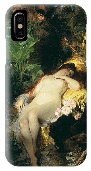 Swedish Painters iPhone Case - Nymph And Fauns by Julius Kronberg