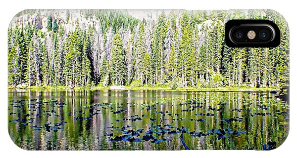 Nymph Lake And Flattop Mountain IPhone Case