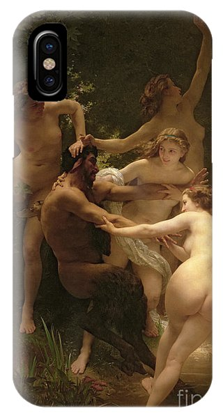 Nudes iPhone X Case - Nymphs And Satyr by William Adolphe Bouguereau