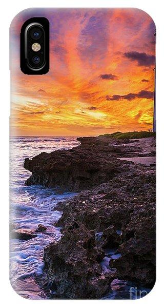 Oahu Hawaii iPhone Case - Oahu Lighthouse by Inge Johnsson