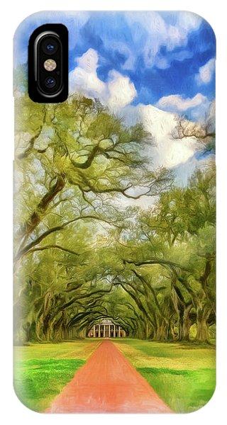 Oak Alley 7 - Paint Vignette IPhone Case