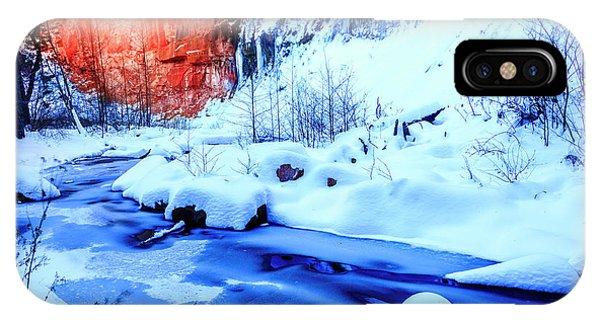 Oak Creek In Winter IPhone Case