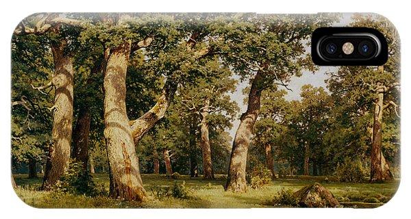 Bucolic iPhone Case - Oak Grove by Ivan Ivanovich Shishkin