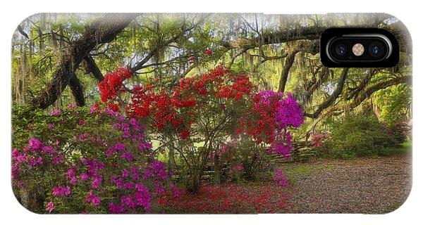 IPhone Case featuring the photograph Oak Tree Azaleas by Ken Barrett
