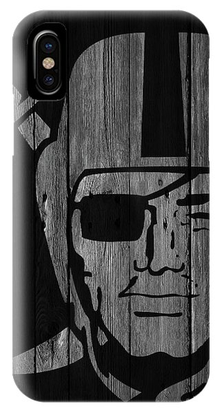 Oakland Raiders Wood Fence IPhone Case