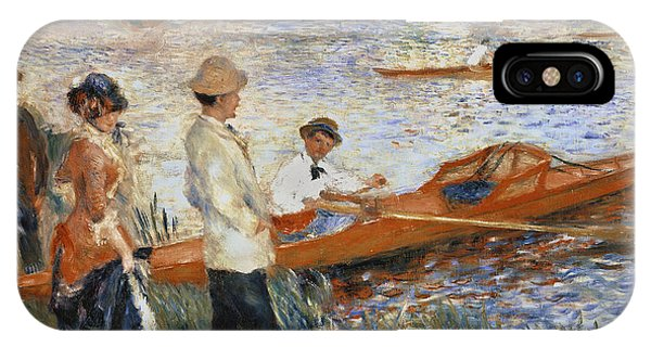 Boats iPhone Case - Oarsmen At Chatou by Pierre Auguste Renoir