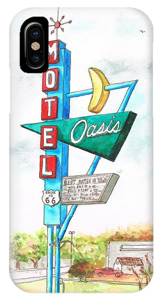 Oasis Motel In Route 66, Tulsa, Texas IPhone Case