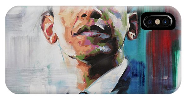 Barack Obama iPhone Case - Obama by Richard Day