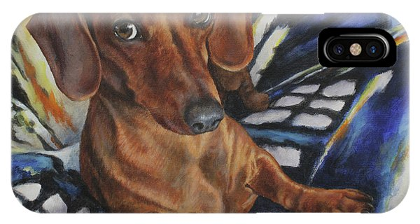 Dachshund Time Lord IPhone Case