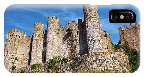 Stone Wall iPhone Case - Obidos Castle by Carlos Caetano