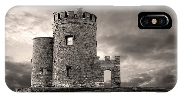 IPhone Case featuring the photograph O'brien's Tower At The Cliffs Of Moher Ireland by Pierre Leclerc Photography