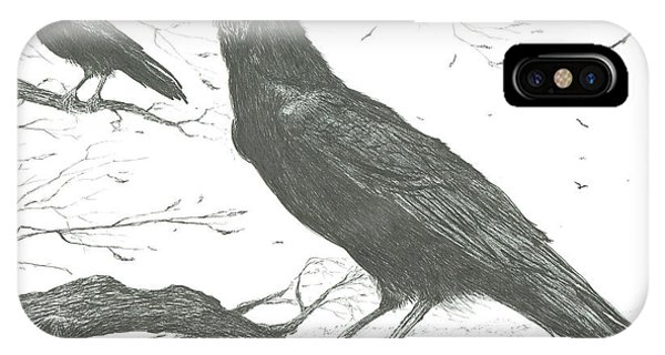 Raven iPhone Case - Observers by Vincent Alexander Booth