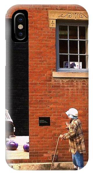 Observing Building Art IPhone Case