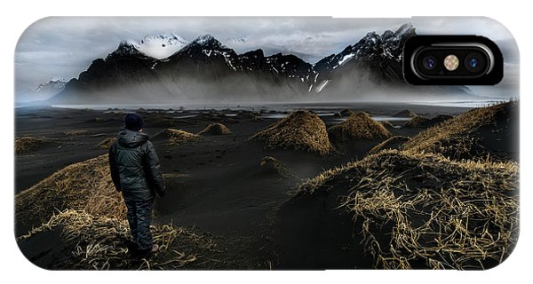Reindeer iPhone Case - Observing The Beauty Of Iceland by Larry Marshall