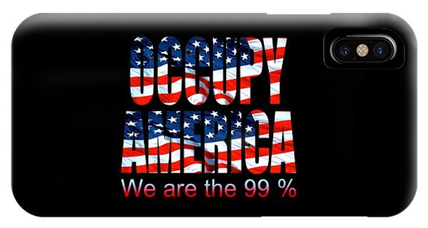 Sports Clothing iPhone Case - Occupy America 99 Percent Design by Peter Potter