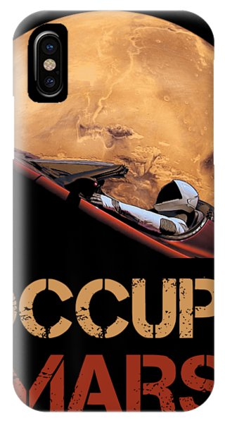 Moon iPhone Case - Occupy Mars by Filip Hellman