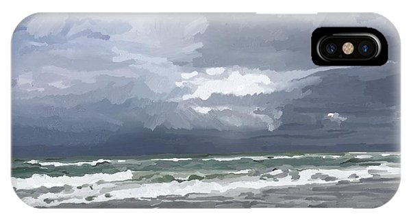Ocean And Clouds Over Beach At Hobe Sound IPhone Case