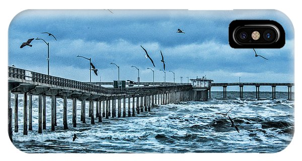 Ocean Beach Fishing Pier IPhone Case