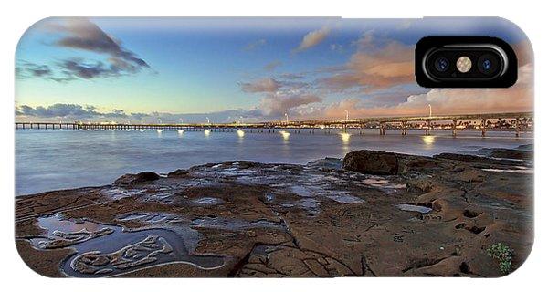 Ocean Beach Pier At Sunset, San Diego, California IPhone Case