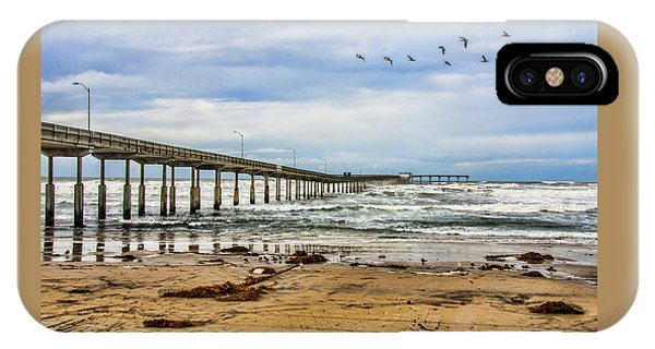 Ocean Beach Pier Fishing Airforce IPhone Case