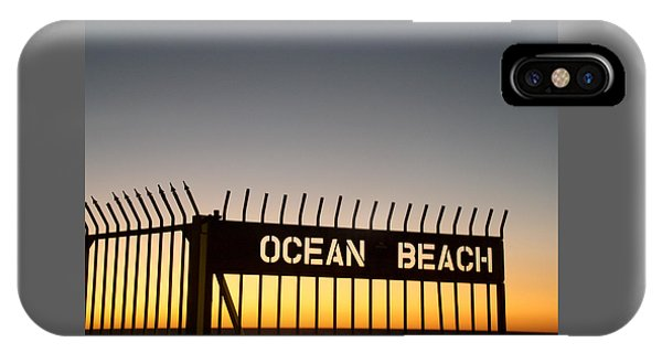 Ocean Beach Pier Gate IPhone Case