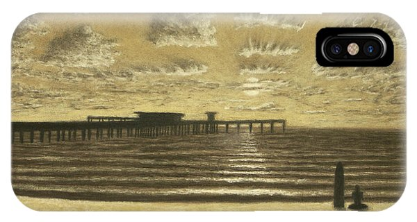 Ocean Beach Pier Sunset 01 IPhone Case