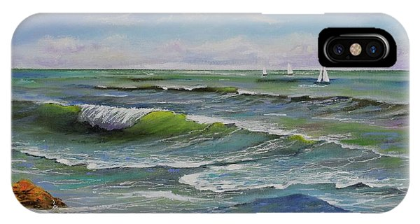 IPhone Case featuring the painting Ocean Breeze by Mary Scott