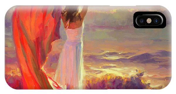 Orange Sunset iPhone Case - Ocean Breeze by Steve Henderson