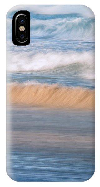 Crash iPhone X Case - Ocean Caress by Az Jackson