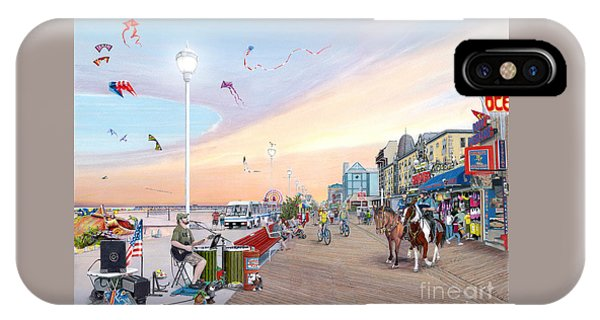 City Sunset iPhone Case - Ocean City Maryland by Albert Puskaric