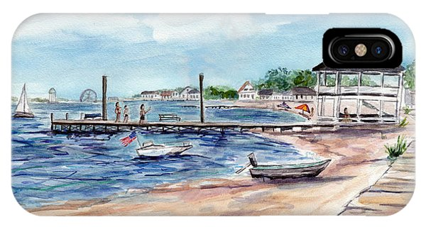 Ocean Gate Boardwalk IPhone Case