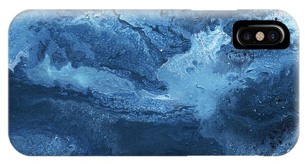 Texture iPhone Case - Ocean Gold- Abstract Art By Linda Woods by Linda Woods
