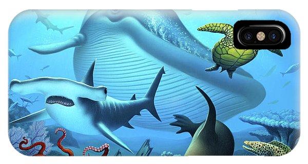 Sharks iPhone Case - Ocean Life by Jerry LoFaro