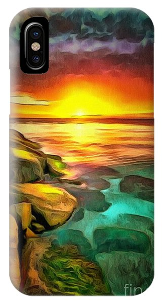 Ocean Lit In Ambiance IPhone Case