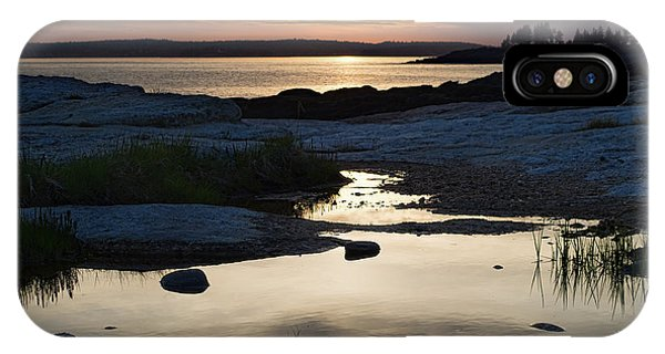 Ocean Point Sunset In East Boothbay Maine  -23091-23093 IPhone Case