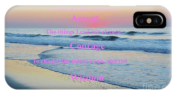 Ocean Sunrise Serenity Prayer IPhone Case