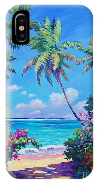Sea iPhone X Case - Ocean View With Breadfruit Tree by John Clark