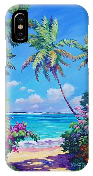 Beach iPhone X Case - Ocean View With Breadfruit Tree by John Clark