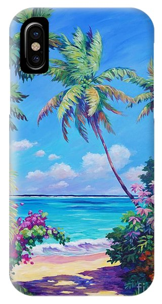 Palm Tree iPhone X Case - Ocean View With Breadfruit Tree by John Clark