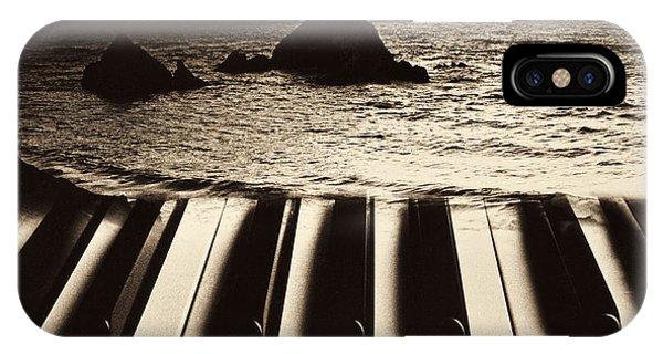 Pacific Ocean iPhone Case - Ocean Washing Over Keyboard by Garry Gay