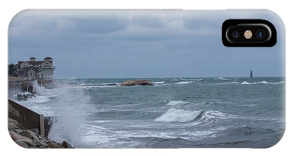 Ocean Waves At Minot Beach IPhone Case
