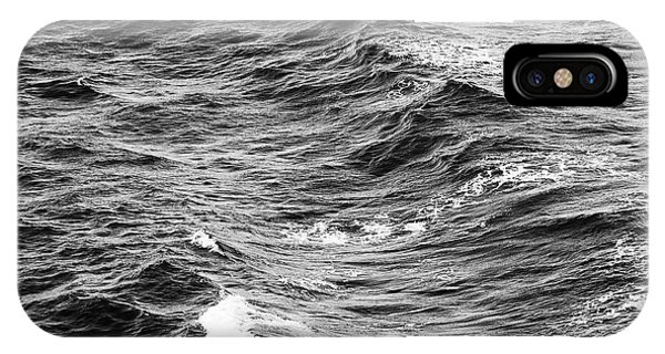 IPhone Case featuring the photograph Ocean Waves Black And White by Tim Hester