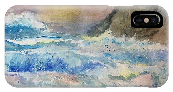 IPhone Case featuring the painting Ocean Waves by Denise Tomasura