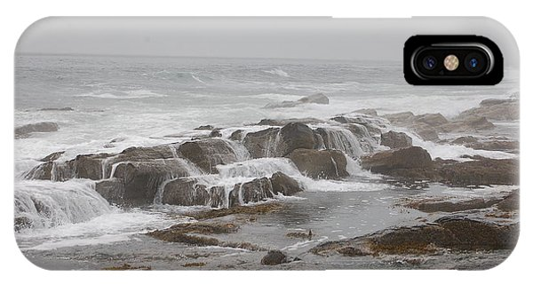 Ocean Waves Over Rocks IPhone Case