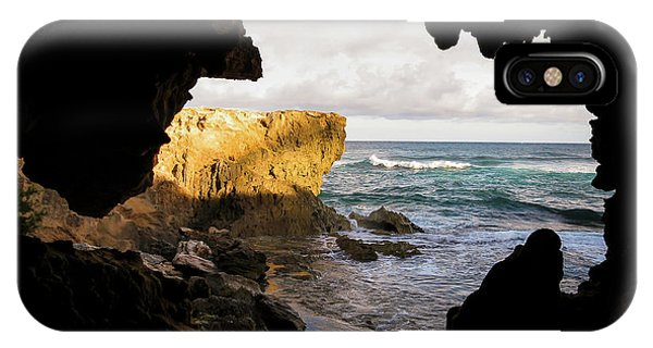 Oceanfront Cave IPhone Case