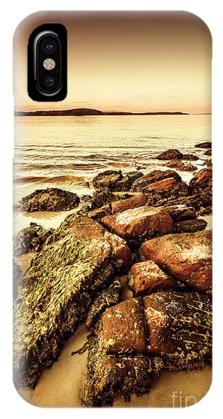 Stone Wall iPhone Case - Oceanic Harmony by Jorgo Photography - Wall Art Gallery