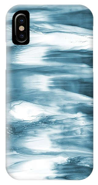 Oceanside- Abstract Art By Linda Woods IPhone Case